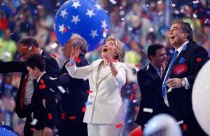 Hillary Clinton Celebrating Democratic Convention
