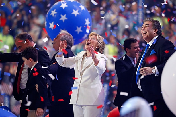 Hillary Clinton Celebrating Democratic Convention