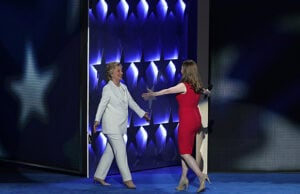 Hillary and Chelsea Clinton at Democratic Convention