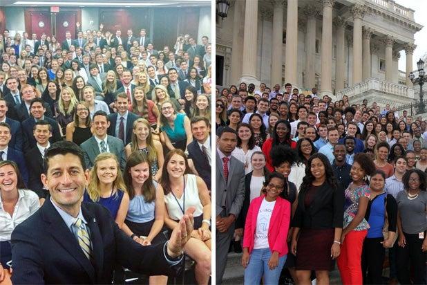 Republican/Democrat Interns