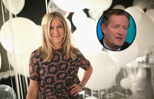 Jennifer Aniston and Piers Morgan