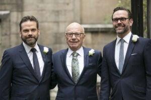 Lachlan Rupert and James Murdoch