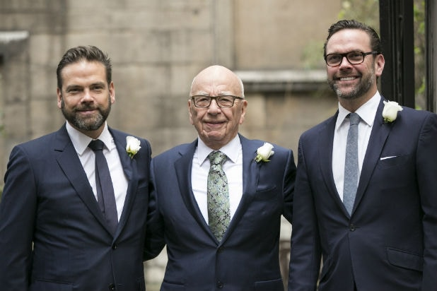 Lachlan Rupert and James Murdoch