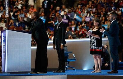 Lee Daniels at Democratic Convention