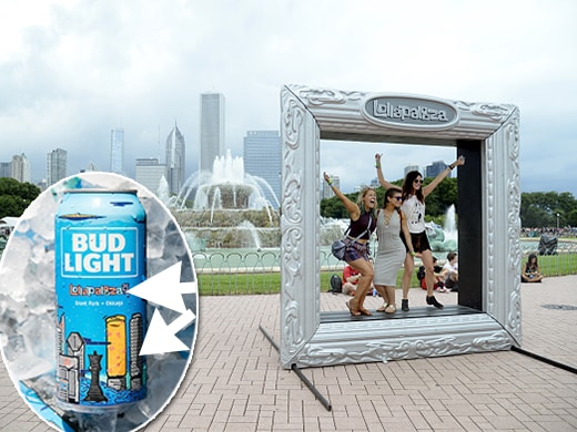 Lollapalooza Chicago Skyline on Cans