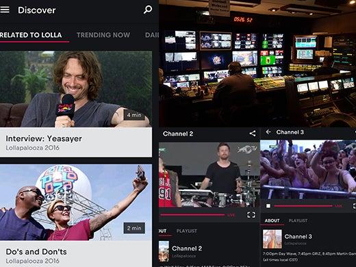 Lollapalooza Livestream - Red Bull TV Control Room