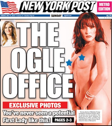 Melania Trump NY Post Nude Cover