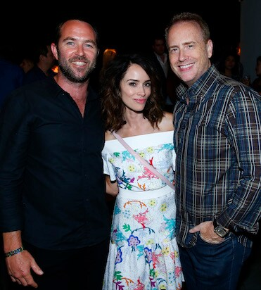 "COMIC-CON INTERNATIONAL: SAN DIEGO 2016 -- 7th Annual NBC @ Comic-Con Party -- Pictured: (l-r) Sullivan Stapleton, ""Blindspot""; Abigail Spencer, ""Timeless""; Robert Greenblatt, Chairman, NBC Entertainment at the Andaz, San Diego, Calif., Saturday, July 23, 2016 -- (Photo by: Mark Davis/NBC)"