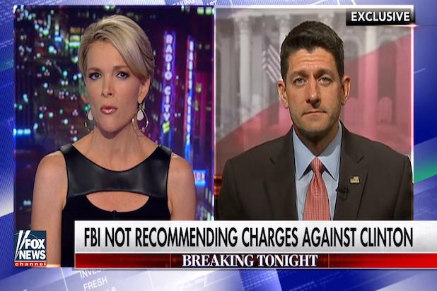Paul Ryan on Megyn Kelly