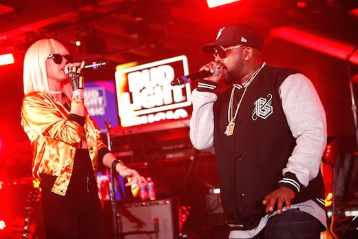 "AUSTIN, TX - MARCH 19: Big Boi and Phantogram perform on stage as part of the ""The Roots Jam Session"" during the 2016 SXSW Music, Film + Interactive Festival at Bud Light Factory on March 19, 2016 in Austin, Texas. (Photo by Dustin Finkelstein/Getty Images for SXSW)"