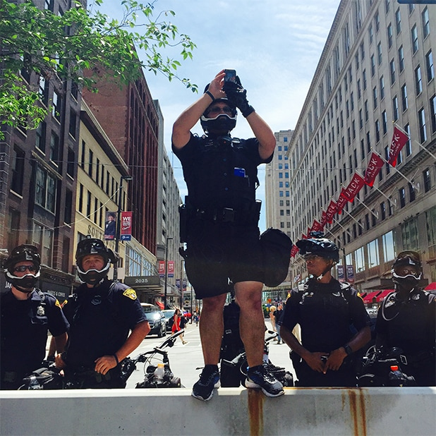 Republican National Convention Police Photographer