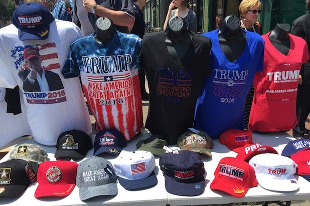 RNC swag Trump hats, tshirts