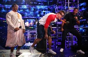 Rob Gronkowski Russell Wilson and Michael Strahan Nickelodeon Kids Choice Sports