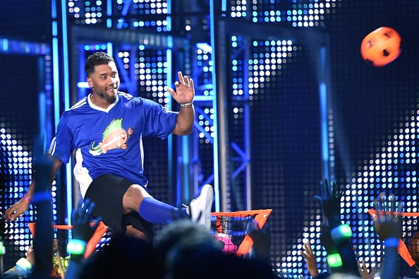 Russell Wilson Soccer Nickelodeon Kids' Choice Sports Awards