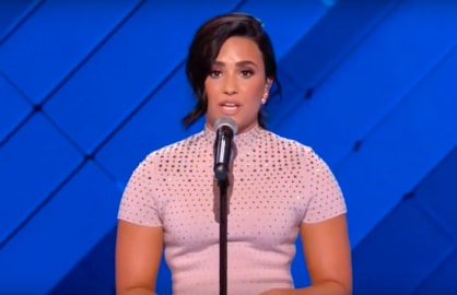 Demi Lovato Opens Up About Mental Illness During DNC Speech (Video)