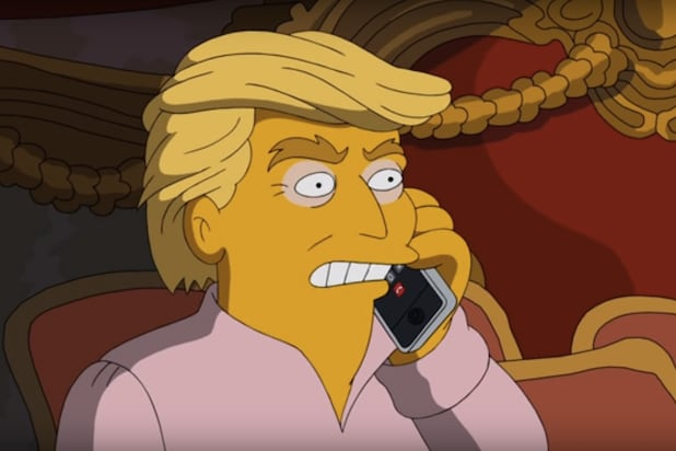 'Simpsons' creator initiates 'Lock him up' chant aimed at Trump
