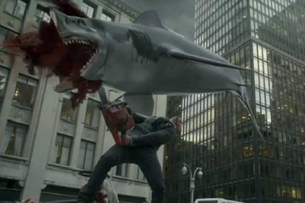 Sharknado 2 cut in half