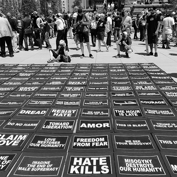 Republican National Convention Silent Protest Signs