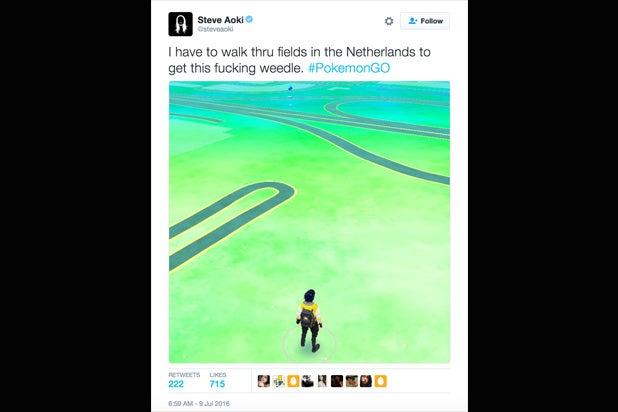 Steve Aoki Pokemon Go