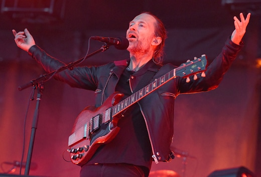 CHICAGO, IL - JULY 29: Thom Yorke of Radiohead performs during Lollapalooza at Grant Park on July 29, 2016 in Chicago, Illinois. (Photo by Tim Mosenfelder/Getty Images)