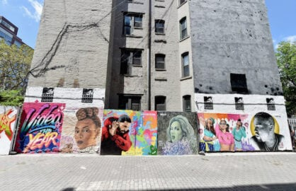 2016 MTV VMA nominations mural