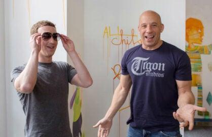 Vin Diesel Mark Zuckerberg Facebook
