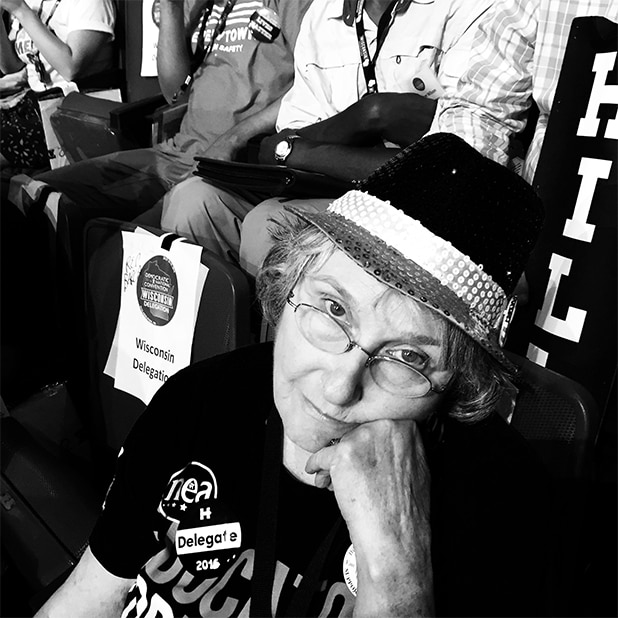 Democratic National Convention Crowd Wisconsin Delegate