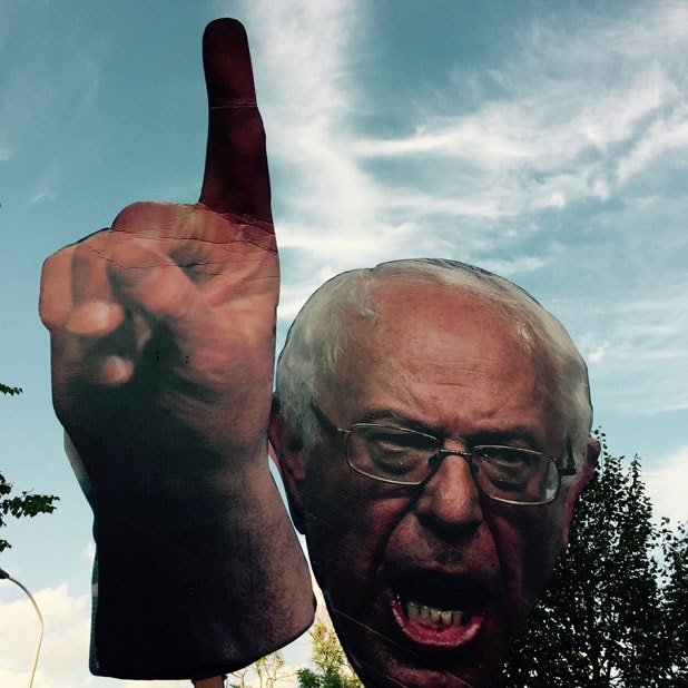 bernie sanders sign dnc democratic convention