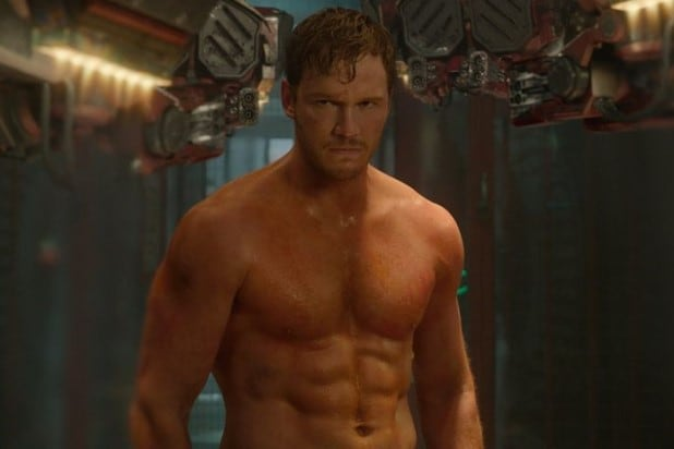Chris Pratt shirtless Guardians of the Galaxy