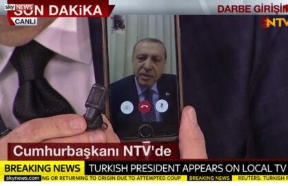 turkey recep erdogan facetime iphone