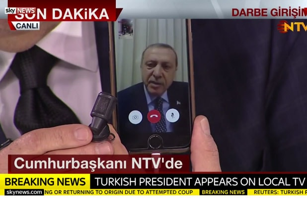 turkey recep erdogan facetime iphone trump authoritarian praise