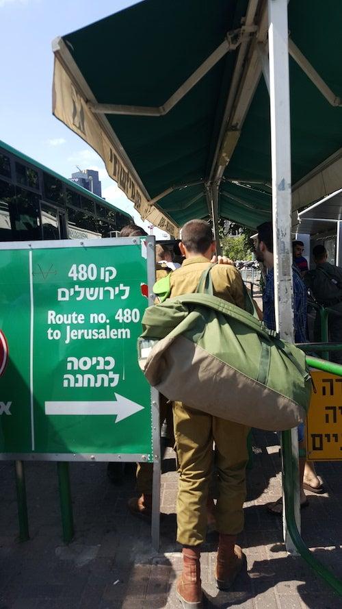 israel bus scene