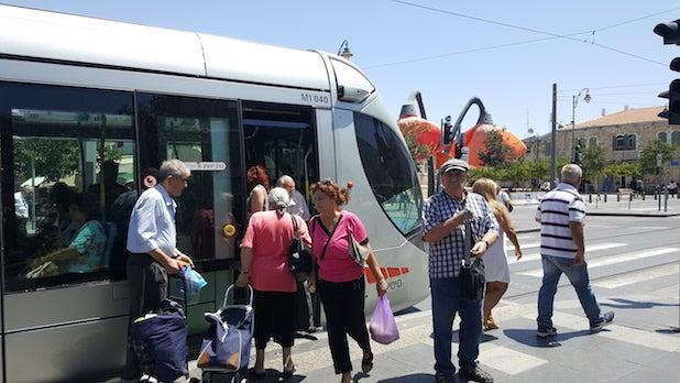 israel street scene train