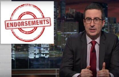 john oliver last week tonight endorsements