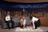 kristen stewart plays jell0o shot twister with jimmy fallon
