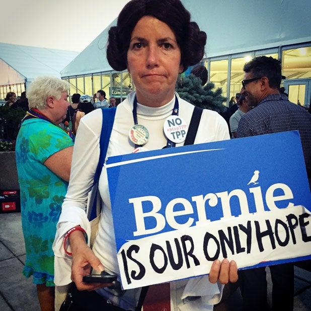 bernie sanders princess leia democratic convention dnc