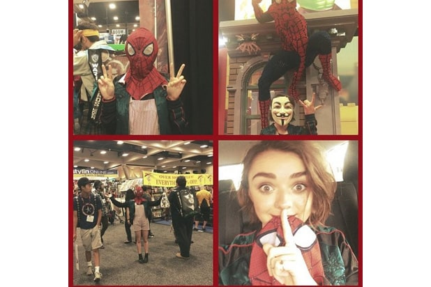 maisie williams comic-con