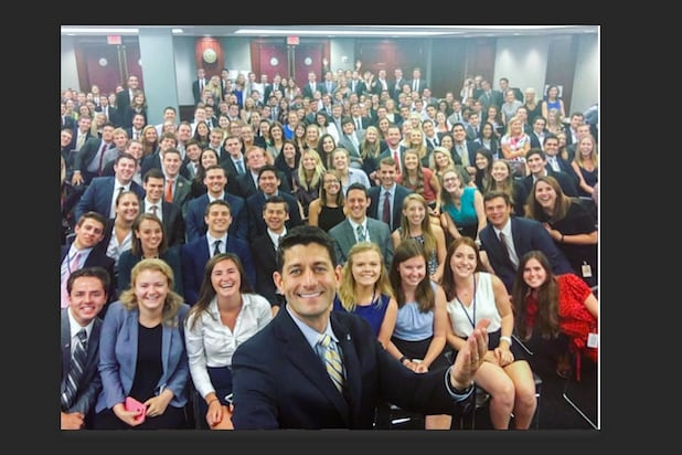 paul ryan selfie