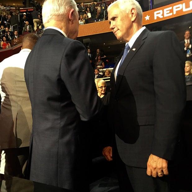 Senator Jeff Sessions and VP select, Gov. Mike Pence