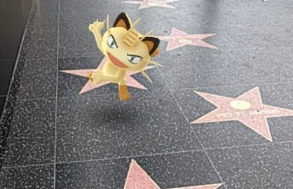 pokemon go meowth hollywood