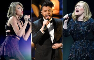 highest paid music stars taylor swift the weeknd adele