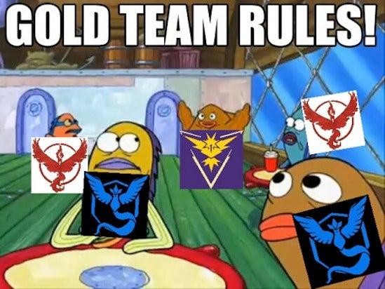 pokemon go memes team instinct