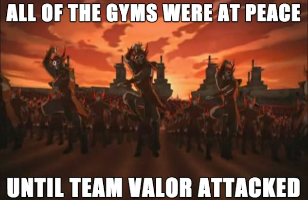 pokemon go memes team valor attacks