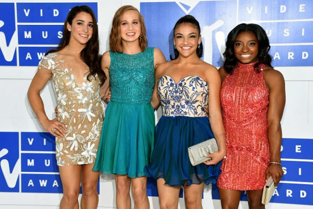 Aly Raisman Madison Kocian Laurie Hernandez and Simone Biles mtv video music awards
