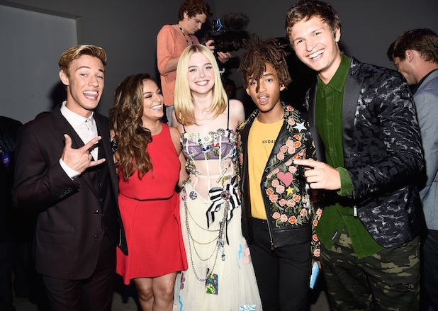 Cameron Dallas, Bethany Mota, Elle Fanning, Jaden Smith and Ansel Elgort Variety's Power of Young Hollywood Presented by Pixhug, Inside, Los Angeles, USA - 16 Aug 2016