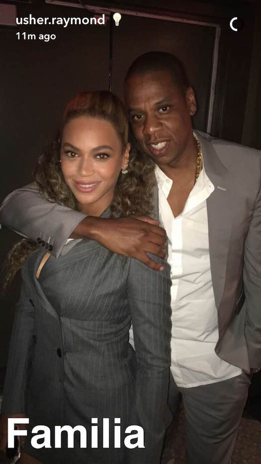 Beyonce Jay Z Usher Instagram Post Hands of Stone