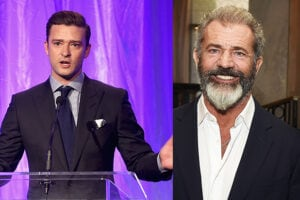 Justin Timberlake and Mel Gibson presented HFPA grants to orgs like UCLA, the AFI, Columbia University, the MPTF, and GlobalGirl Media.