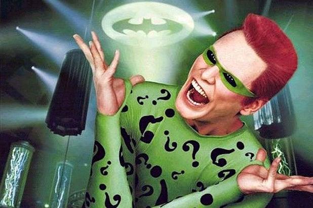 DC movie villains Jim Carrey Riddler