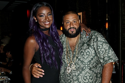 NEW YORK, NY - AUGUST 24: Justine Skye and DJ Khaled attend Justine Skye's 21st Birthday Dinner at Jue Lan Club on August 24, 2016 in New York City. (Photo by Steve Mack/Getty Images for Jue Lan Club)