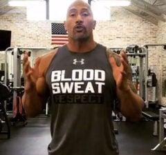 Dwayne Johnson 22 Push Up
